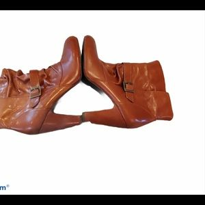 INC Brown Ankle Bootie Shoes Size 10